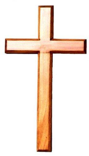 40cm acajou en bois très grande tenture croix en bois brun