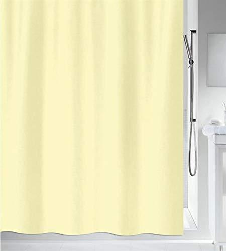 """Spirella Anti-Schimmel Duschvorhang - Anti-Bakteriell, waschbar, wasserdicht - Polyester, """"Primo """" 180x200cm Hellgelb"""