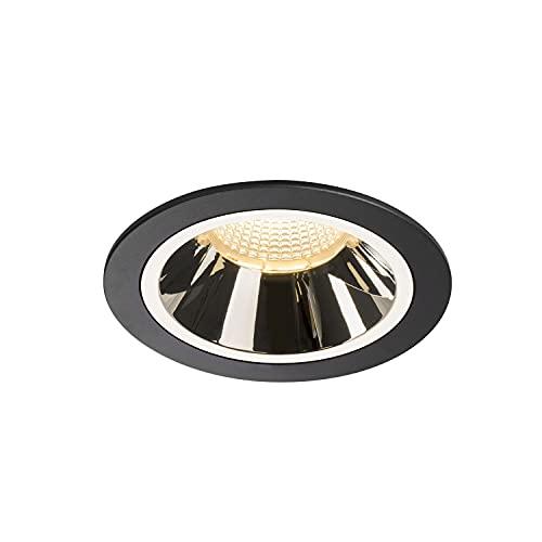SLV Numinos DL L/LED, Foco de Techo, lámpara empotrable, iluminación Interior, IP20/IP44, 3000 K, 25,41 W, 2200 LM, Color Negro, 55 Grados