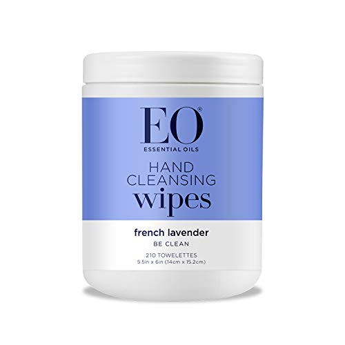 EO Hand Cleansing Wipes, Lavender, 210 Count