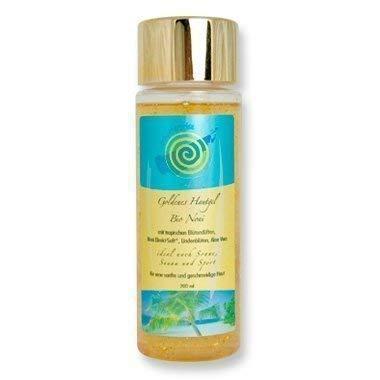 Gel de piel dorada Bio Noni 200 ml, hidratante, con jugo fresco de hoja de Aloe Vera, ideal para después del sol, la sauna y el afeitado