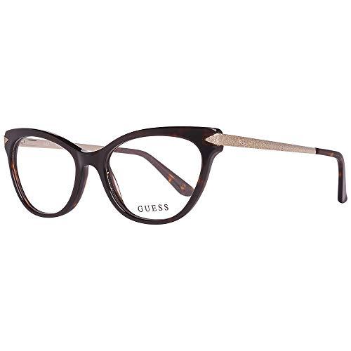 Guess GU2683 Eyeglass Frames - Dark Havana Frame, Dark Havana Lenses, 52 mm Lens GU268352052