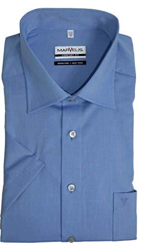 Marvelis Hemd Comfort Fit Kurzarm royalblau - 7959.12.13, Kragenweite / Größe:42 / L