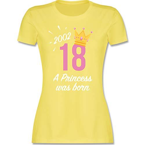 Geburtstag - 18 Geburtstag Mädchen Princess 2002 - S - Lemon Gelb - lustige Tshirts 18 Geburtstag - L191 - Tailliertes Tshirt für Damen und Frauen T-Shirt