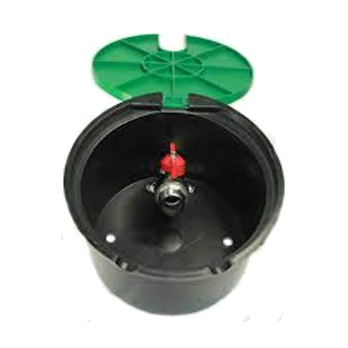 Rc Junter ARQ Arqueta de riego con válvula Grifo, 3/4', Verde, 20.5x20.5x13.0 cm