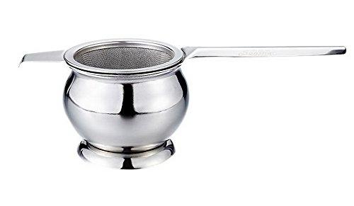 Spicy Meow Accessoire d'ensemble de thé d'acier Inoxydable, Boule modèles Filtre à thé Maille + Base de Filtre