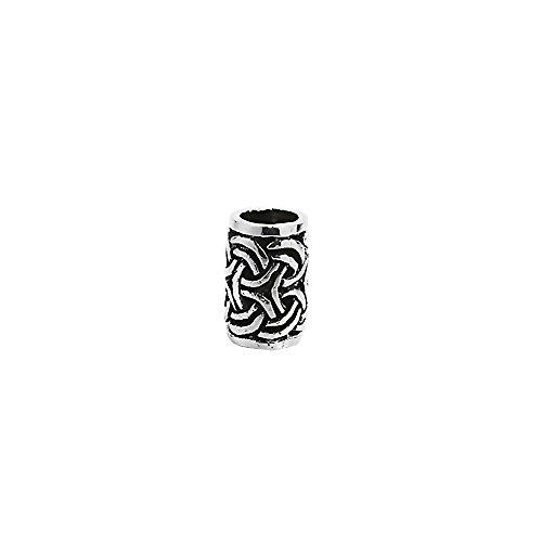 Nklaus Gylfi 7131 Adorno para pelo y barba,plata de ley 925, Gótico, Celta