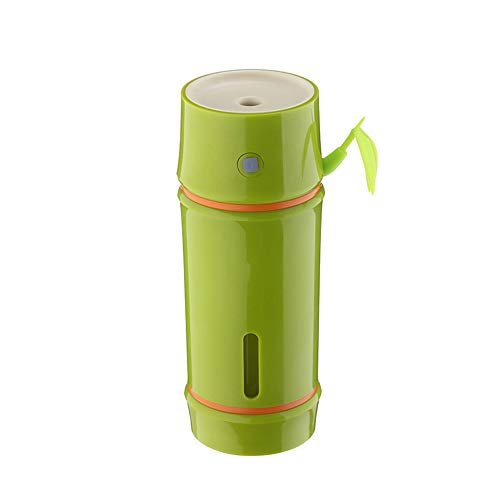 Humidificador del coche USB Aroma Difusor de aceite esencial Humidificadores de bambú por ultrasonidos Cool Mist Bambú, verde claro