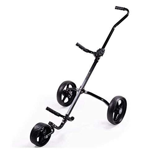 FEFCK Einfachheit 3-Rad Zieh-Golfcarts Golf Push Cart Faltbare Primärübung Golf Push Trolley Primärübung, Abnehmbarer Körper Und Griff