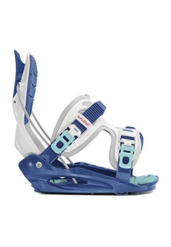 Flow Micron Snowboard Bindings (White/Blue, M) - Kids