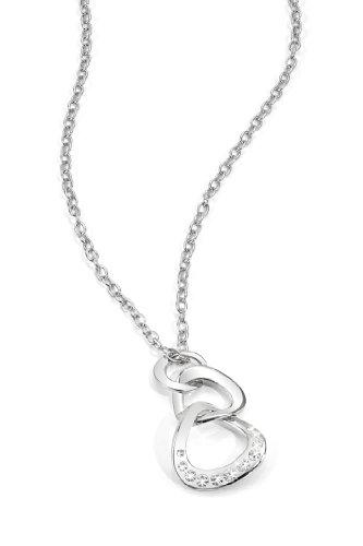 Morellato SKT01 - Catenina con pendente da donna con cristallo, acciaio inossidabile, 450 mm