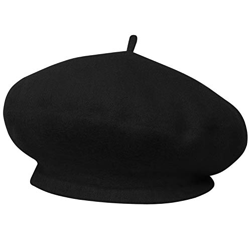 TRIXES französische Baskenmütze schwarz Kostüm Thema Mottoparty für Karneval - Baskenmützen & Barette