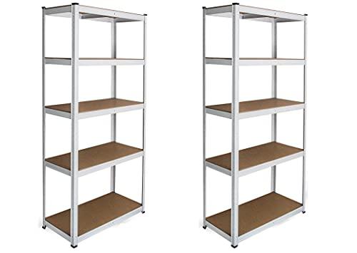 FT TENORE scaffale alta portata metallo BIANCO portata fino a 875kg 180x90x40cm 5 ripiani (1)