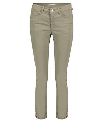 Mac Damen Jeans Angela Slim Fit Cropped grün (43) 44/27