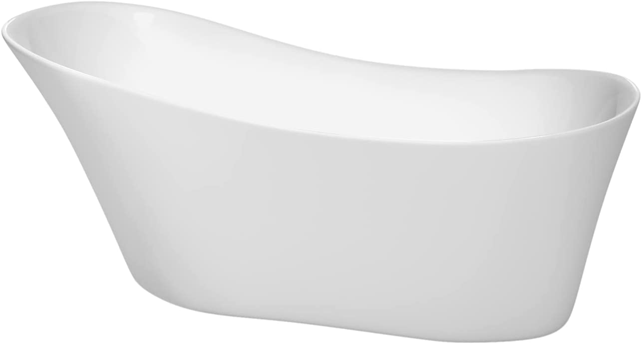 Janice 2021 new 67 inch Freestanding Bathtub White Polished with El Paso Mall in Chrom