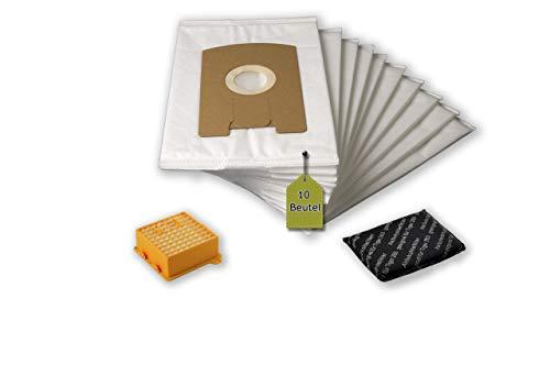 eVendix Filterset passend für Vorwerk Tiger, Kobold VT 260: 10 Staubsaugerbeutel, ähnlich FP 260, Staubbeutel + 1 Hygiene-Mikrofilter Hepa + 1 Aktivkohle-Filter