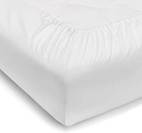 Vesgantti Bettlaken Betttuch Atmungsaktiv Matratze Cover bis zu 35cm 100% Baumwolle Matratzenschutz (180x200 cm)