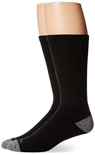 Timberland Men's 3-Pack Crew,Black,Sock Size:10-13/Shoe Size: 6-12(Shoe size 9-12)