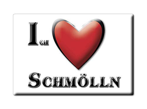 Enjoymagnets SCHMÖLLN (TH) Souvenir Deutschland THÜRINGEN Fridge Magnet KÜHLSCHRANK Magnet ICH Liebe I Love