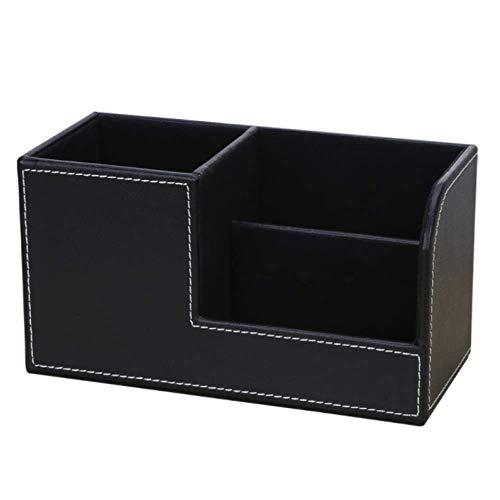G-MODELL ペンたて ペンスタンド 収納ボックス おしゃれ 卓上 収納 PUレザー (ブラック)