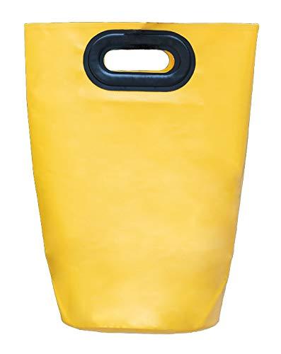 折りたたみバケツ 深型 足湯桶 冷え対策 フォールディング携帯型 イエロー