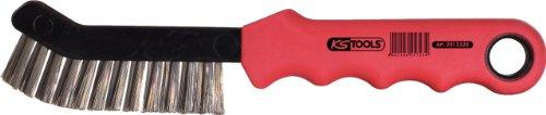 KS Tools 201.2320 Stahldraht-Bremssattel-Drahtbürste 2-reihig