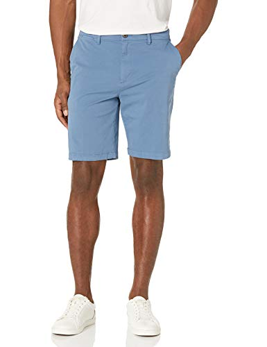 Amazon Brand - Goodthreads Men's Slim-Fit 9' Inseam Flat-Front Comfort Stretch Chino Shorts, moonlight blue, 38
