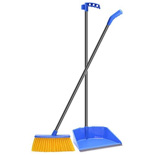 YLiansong-home Juego de Recogedor y Cepillo Escojo Suave y plantador de Polvo combinación de Casas y Limpieza de la Escoba de plástico para Casa (Color : Blue, Size : One Size)