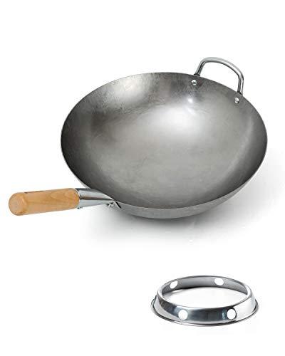 Bielmeier Hand Hammered Wok pan 14