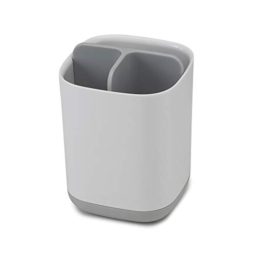Joseph Joseph 70509 EasyStore Toothbrush Holder Bathroom Storage Organizer Caddy, Small, Gray