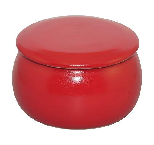 Original Französische Wassergekühlte Keramik Butterdose, Immer Frische Und Streichzarte Butter Zum Frühstück, 250g, Chillirot B-G