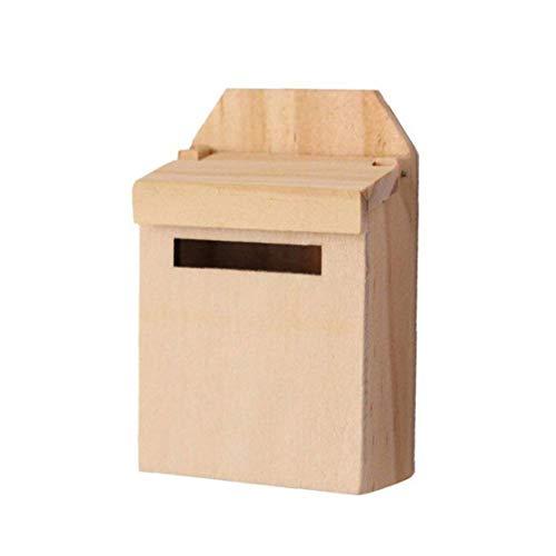 OMMO LEBEINDR 01:12 Dollhouse De La Escala De Accesorios De Muñecas En Miniatura De Madera Buzón Buzón Inicio Decoración del Jardín De Niños para Las Muchachas Regalo Conveniente De Suministro