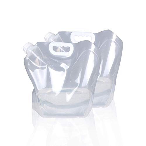 Bolsa de almacenamiento de agua plegable de 5 litros y 10 L, de plástico transparente de...