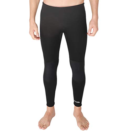 REALON Surfing Wetsuit Pant 3mm Men Womens Compression Leggings Swimming Tights,Stretch Body, Keep Warm in Cold Water,Diving Snorkeling Scuba Surf Canoe Pants (Black 3mm, L)