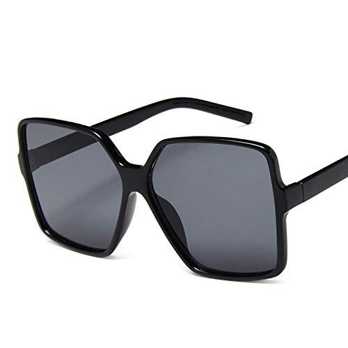 Gafas De Solgafas De Sol De Gran Tamaño A La Moda para Mujer, Gafas De Sol De Diseñador De Marca De Plástico Gradiente para Mujer, Uv400 C1