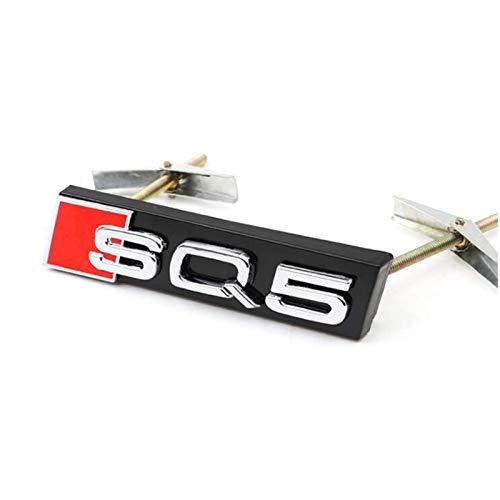 YELVQI Emblema de la Marca Deportiva de la Parrilla Delantera del Panal del Coche, S RS SQ Calcomanía Adhesiva para Audi S RS SQ Series A3 A4 A5 A6 Q3 Q5 Series Modify, Silver, SQ7