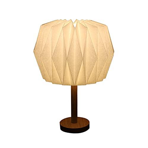 una lámpara de mesa Origami, sala de estudio, lámpara de mesa de iluminación de dormitorio, pantalla de origami geométrica, manualidades origami, iluminación del hogar, iluminación de la oficina
