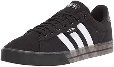 adidas Men's Daily 3.0 Skate Shoe, Black/White/White, 12