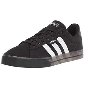 adidas Men's Daily 3.0 Skate Shoe, Black/White/White, 10