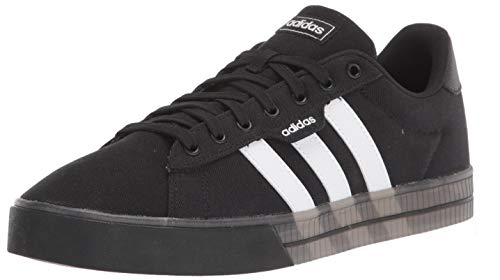 adidas Men's Daily 3.0 Skate Shoe, Black/White/White, 12