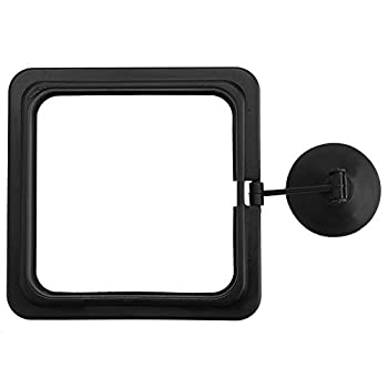 Hffheer Fish Feeding Ring Fish Tank Square Feeder Floating Food Square Aquarium Floating Food Circle Safe Plastic Fish Food Ring Station with Suction Cup  Square