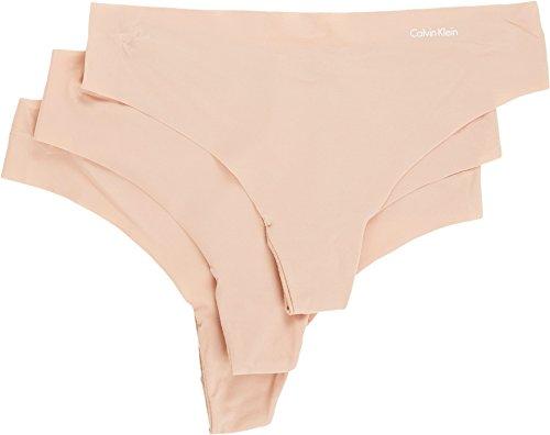 Calvin Klein Invisibles - Tanga para mujer Beige Caramelo Claro/Caramelo Claro/Caramelo Claro XS