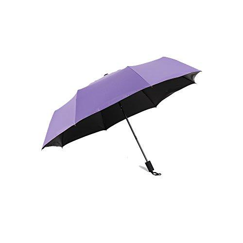 Paraguas plegables HUANAI Paraguas Sombrilla Ligera Cero Transparente Paraguas Plástico Negro Sombrilla...