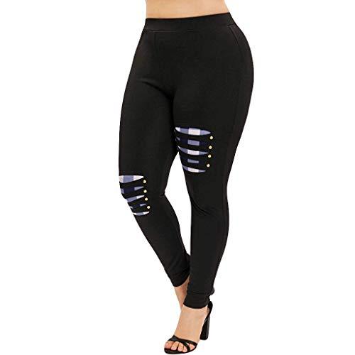 Neueste Damen Übergröße Leggings Jogginghose Elatisch Yoga Hosen Push up Trainingshose Weich Bequem Stoffhose Sporthose Fitness Workout Gymnastik Tights