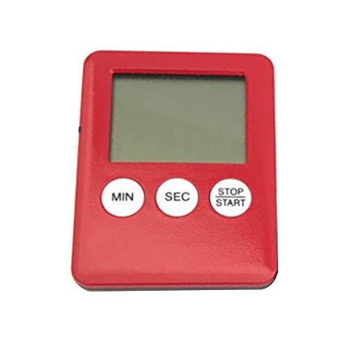CandyTT Temporizador electrónico de Cocina Digital con LED, recordatorio de medicamentos de Cuenta Regresiva, Temporizador de Cocina, Temporizador de activación de Cocina para el hogar (Rojo)