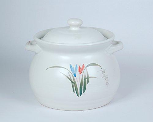Uniware Heavy Duty Heat Proof Ceramic Pot, White, 4.3 Liter(7.8