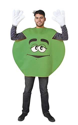 P'tit Clown - 76704 - Costume Adulte Bonbon Rond - Taille Unique - Vert