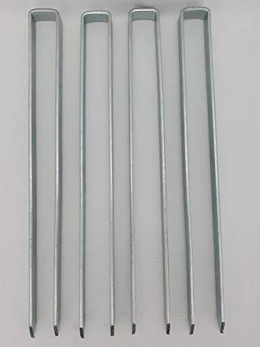 KUHEIGA 4 x Bodenanker 40cm lang für Rosenbogen Blumenhilfe Obelisk und mehr!