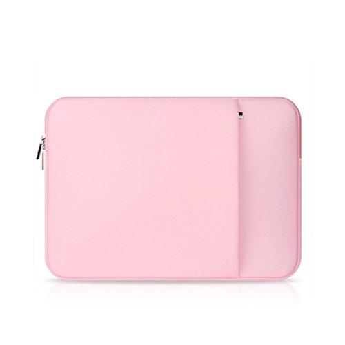 Funda Protectora Antigolpes Ultra fino para 11' 13' 15' 15,6' Ordenador Portátil Laptop Tableta MacBook Pro Air - para 15,6', Rosado claro