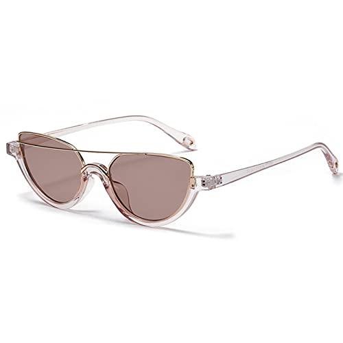LUOXUEFEI Gafas De Sol Gafas De Sol Mujer Marrones Verano Gafas De SolMedio Marco Leopardo